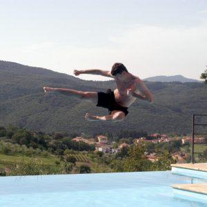 Tréner Dano na dovolenke v Toskánsku